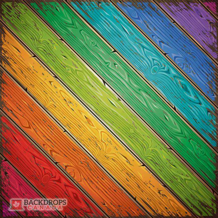 Vector Rainbow Wood Photography Floordrop
