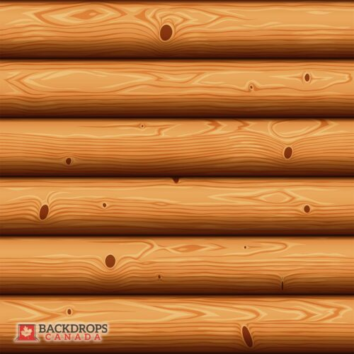 Vector Log Cabin Photography Backdrop