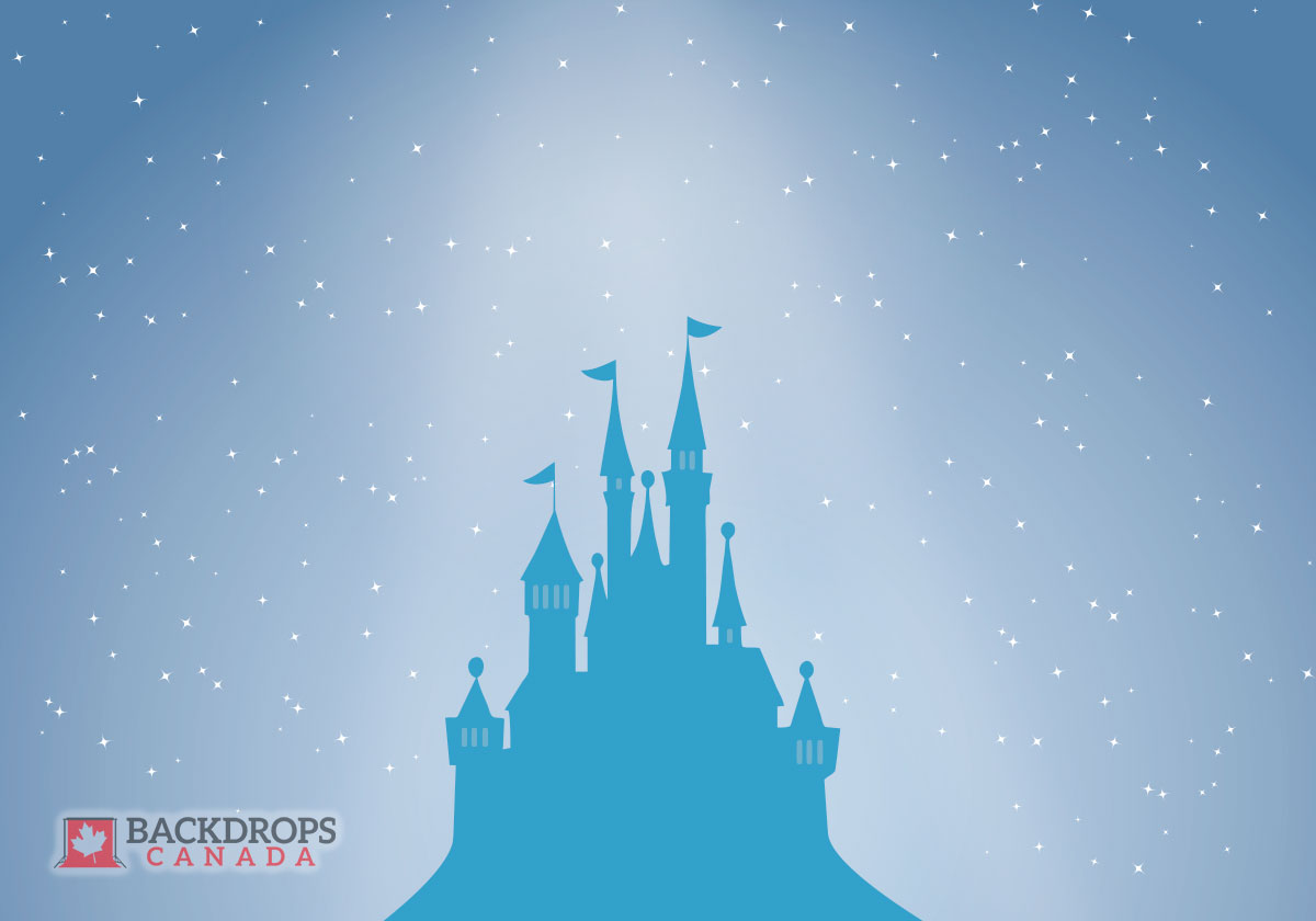 Blue Castel Photography Backdrop Cinderella
