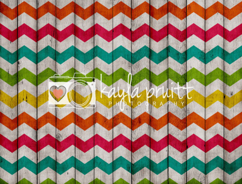 Chevron Fiesta Photography Backdrop