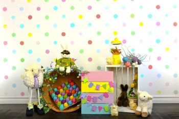 Easter Pastel Sheep Photography Backdrop