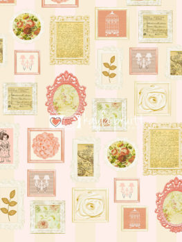 Floral Frames Photography Backdrop