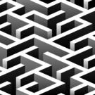 Black & White Maze Photography Backdrop