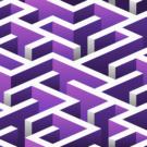 Purple Maze Photography Backdrop