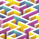 Multicolour Maze Photography Backdrop