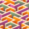 Multicolour Orange Maze Photography Backdrop