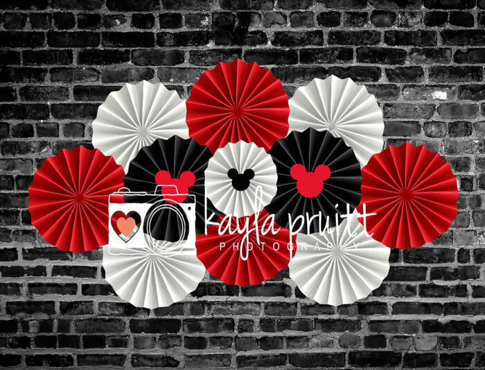 Mickey Mouse Inspired Pinwheels Photography Backdrop