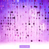 Bubble Curtain Violet Photography Backdrop