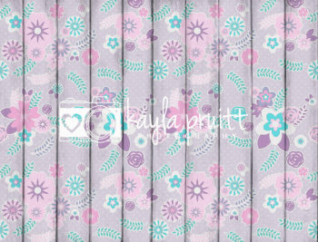 Floral Planks in Purple