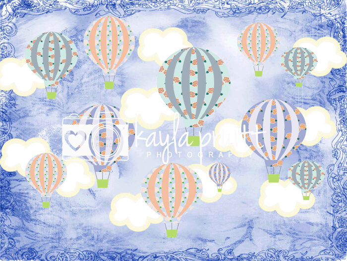 Hot Air Balloons Photography Backdrop