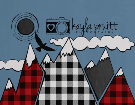 Lumberjack Mountain Photography Backdrop
