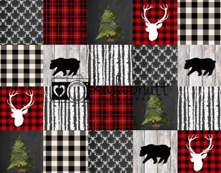 Lumberjack Patchwork Photography Backdrop