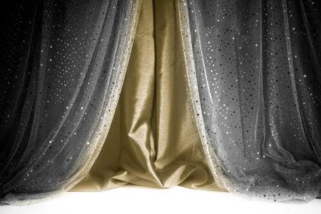 Sequin Curtain Black Antique Gold Photography Backdrop