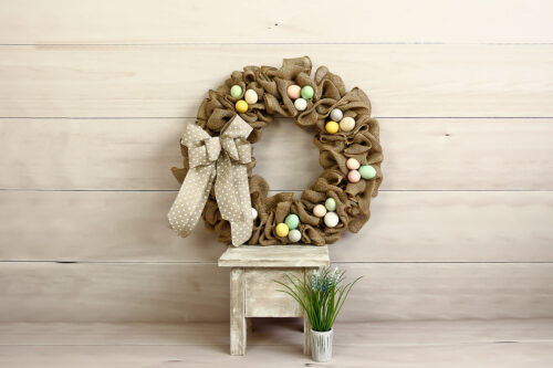 Easter Wreath Photography Backdrop