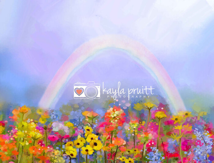 Watercolour Rainbow Photography Backdrop