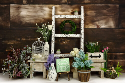 Spring Dark Wood Photography Backdrop