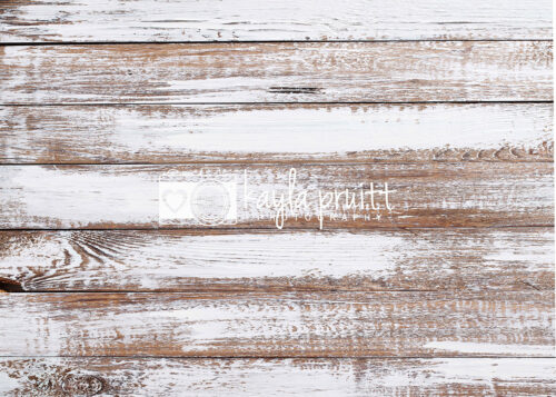 White Distressed Wood Floordrop