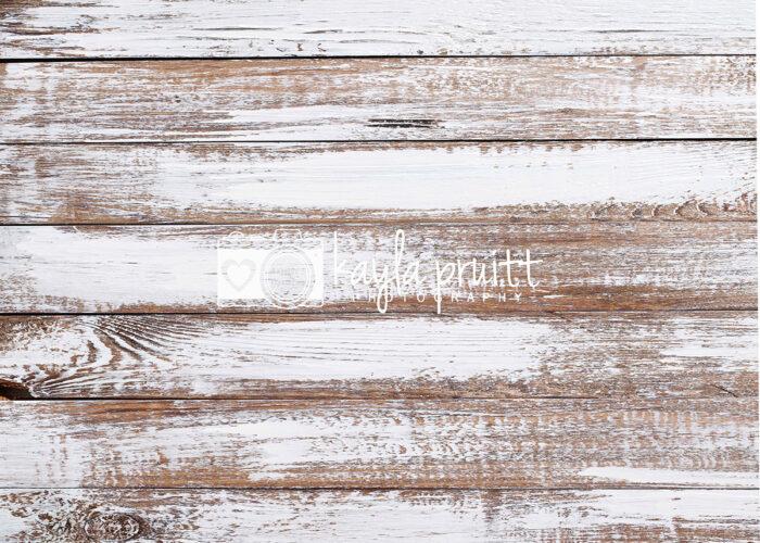 White Distressed Wood Floordrop