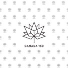 Canada 150 Black on White Photography Backdrop