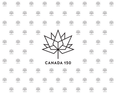 Canada 150 Black on White