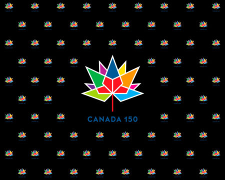 Canada 150 Multicolour on Black