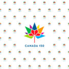 Canada 150 Multicolour Photography Backdrop