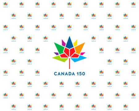 Canada 150 Multicolour Photography Backdrop