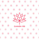 Canada 150 Red on White Photography Backdrop