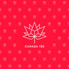 Canada 150 White on Red Photography Backdrop