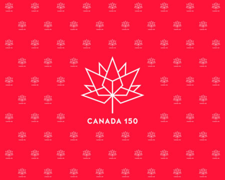 Canada 150 White on Red