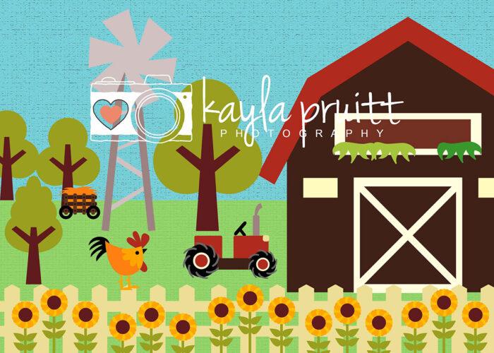 Farm Photography Backdrop