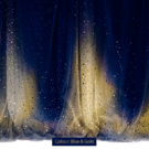 Sequin Curtain Blue & Gold Photography Backdrop