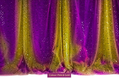 Sequin Curtain Pink & Gold Photography Backdrop