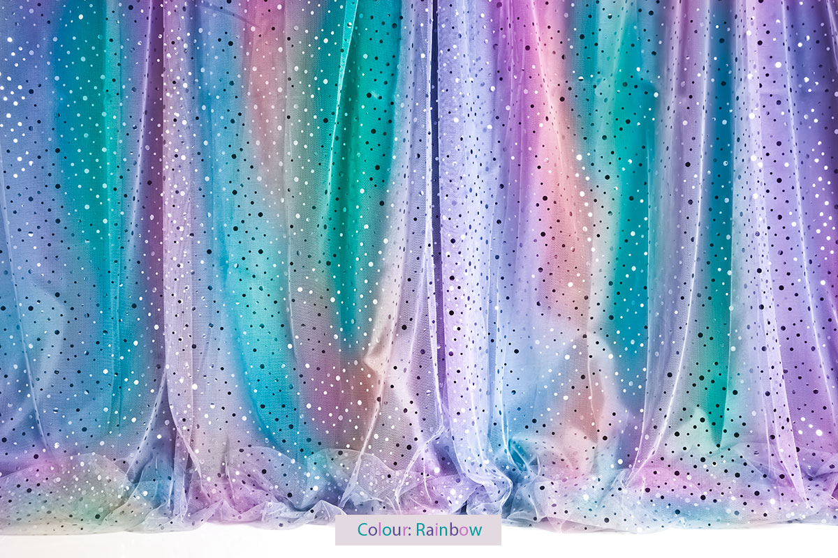 Sequin Curtain Rainbow Photography Backdrop