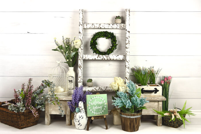 Spring Wood Wall Photography Backdrop