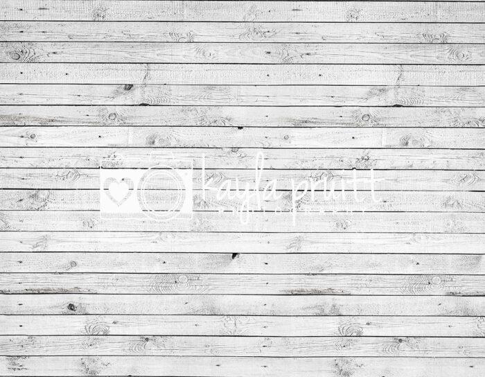 White Wood Slats Floordrop
