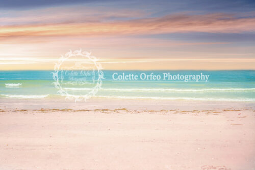 Beach Pastels Photography Backdrop