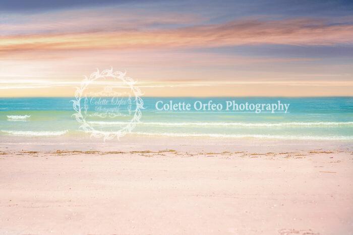 Beach Pastels Photography Backdrop
