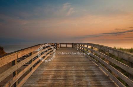 Boardwalk Sunrise Photography Backdrop
