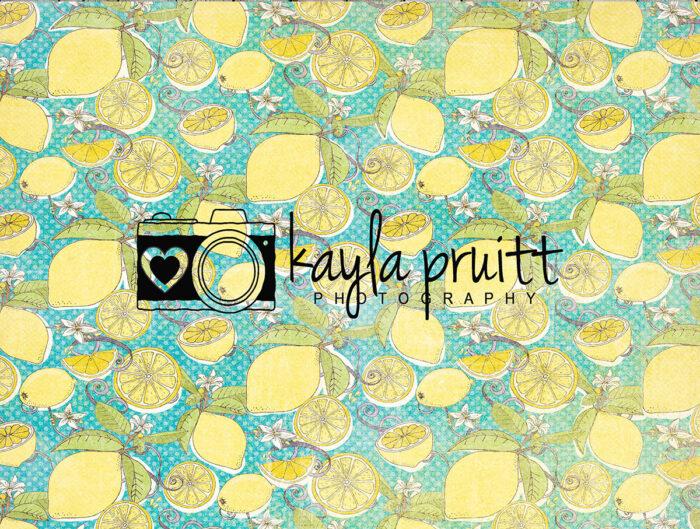 Lemon Squeeze Photography Backdrop