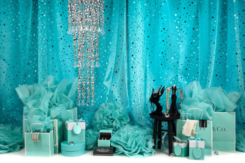 Tiffany Shopper Photography Backdrop