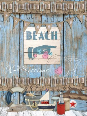 Beach Party Photography Backdrop