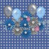 Birthday Stars Blue & Grey Photography Backdrop