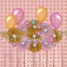 Birthday Stars Pink & Gold Photography Backdrop