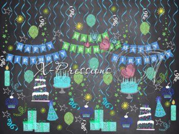 Chalk Birthday Blue
