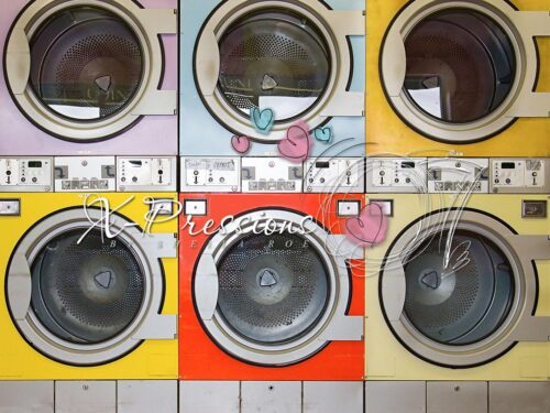 Laundromat Photography Backdrop