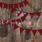 Lumberjack Banner with Deer Silhouette Photography Backdrop