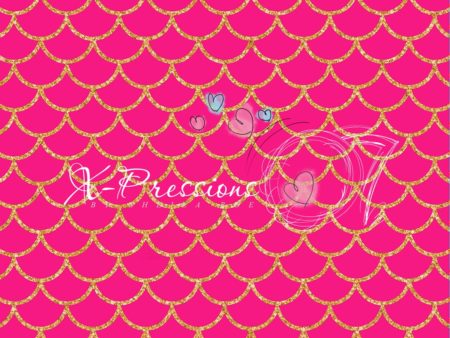 Mermaid Tail Hot Pink Photography Backdrop