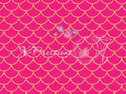 Mermaid Tail Hot Pink Photography Backdrop