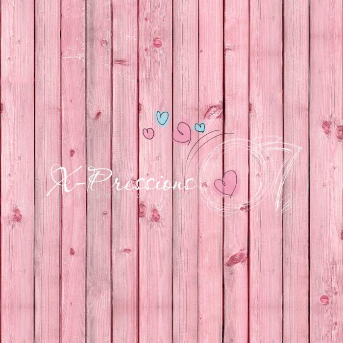 Pink Wooden Boards Photography Backdrop